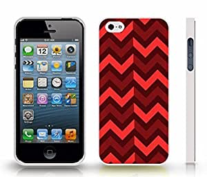 iStar Cases? iPhone 4 Case with Chevron Pattern Brown/ Maroon/ Melon Stripe Snap-on Cover Hard Carrying Case for iPhone6 (White) by ruishername