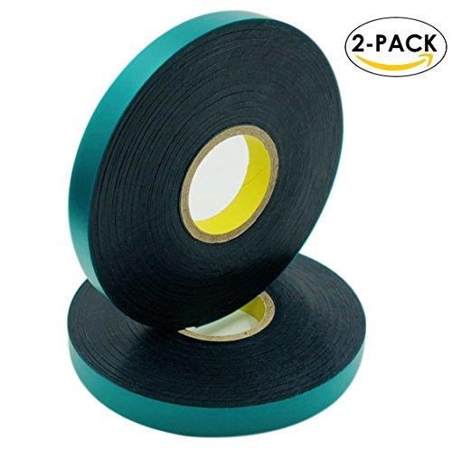 Ugold 8mil Thick 150 feet x 1/2'' Stretch Tie Tape Plant Ribbon Garden Green Vinyl Stake - 2 (Vinyl Stretch Tie)
