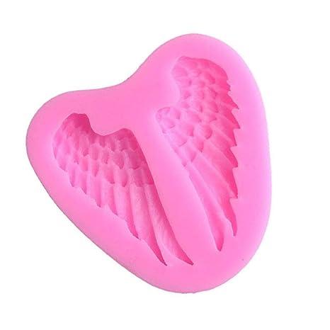 WDYJMALL Molde de silicona con forma de alas de ángel para repostería, molde para fondant