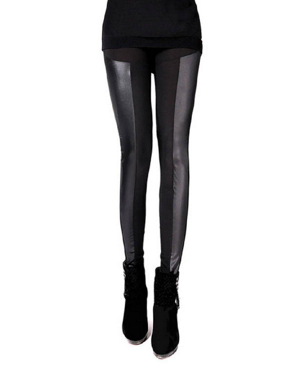 """(Modèle 1) Leggings de femmes avec des inserts élastiques Une idée de cadeau noir taille"""","""