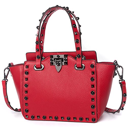 red Doux Sac De poches Sac Messager à Main Bandoulière Mode Shopping Cuir à Fille Sac Multi IxZTaq44w