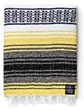 Yoga Blanket - Mexican Blanket - Authentic Baja Blanket - Yoga Blankets Mexican - Mexican Blanket Yoga Serape Blankets Perfect as Beach Blanket, Camping Blanket (Sunshine)