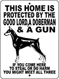 "DOBERMAN PINSCHER DOG SIGN 9""x 12"" ALUMINUM"