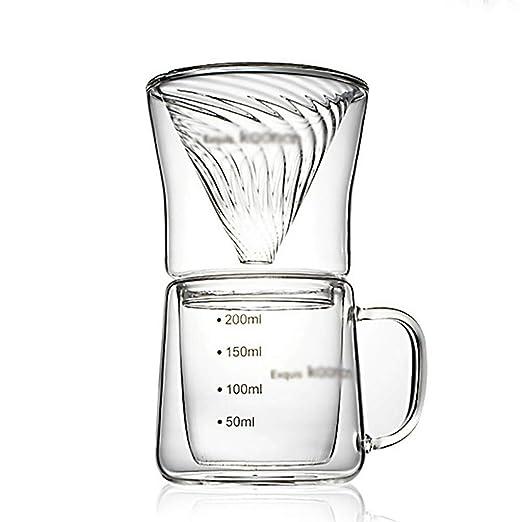 SCJS Pour Over Coffee Maker Brewer Set Cafetera de Goteo/Juego de ...