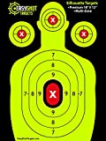 EASYSHOT SILHOUETTE TARGETS For Shooting, High-Contrasting Green and Red Colors Make it Easy to See Your Shots Land, Heavy-Duty Paper Sheets - 150 Free Repair Stickers, Close To Wholesale Prices.