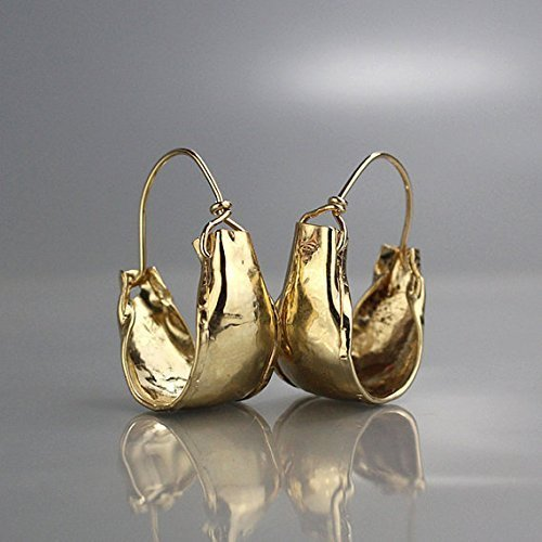 Handcrafted Statement Gold Filled Large Gypsy Hoop Earrings by Yifat Bareket