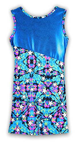 Pelle Gymnastics Biketard - upsidedown/Kaleidoscope Stars (Other Prints Available) - CS