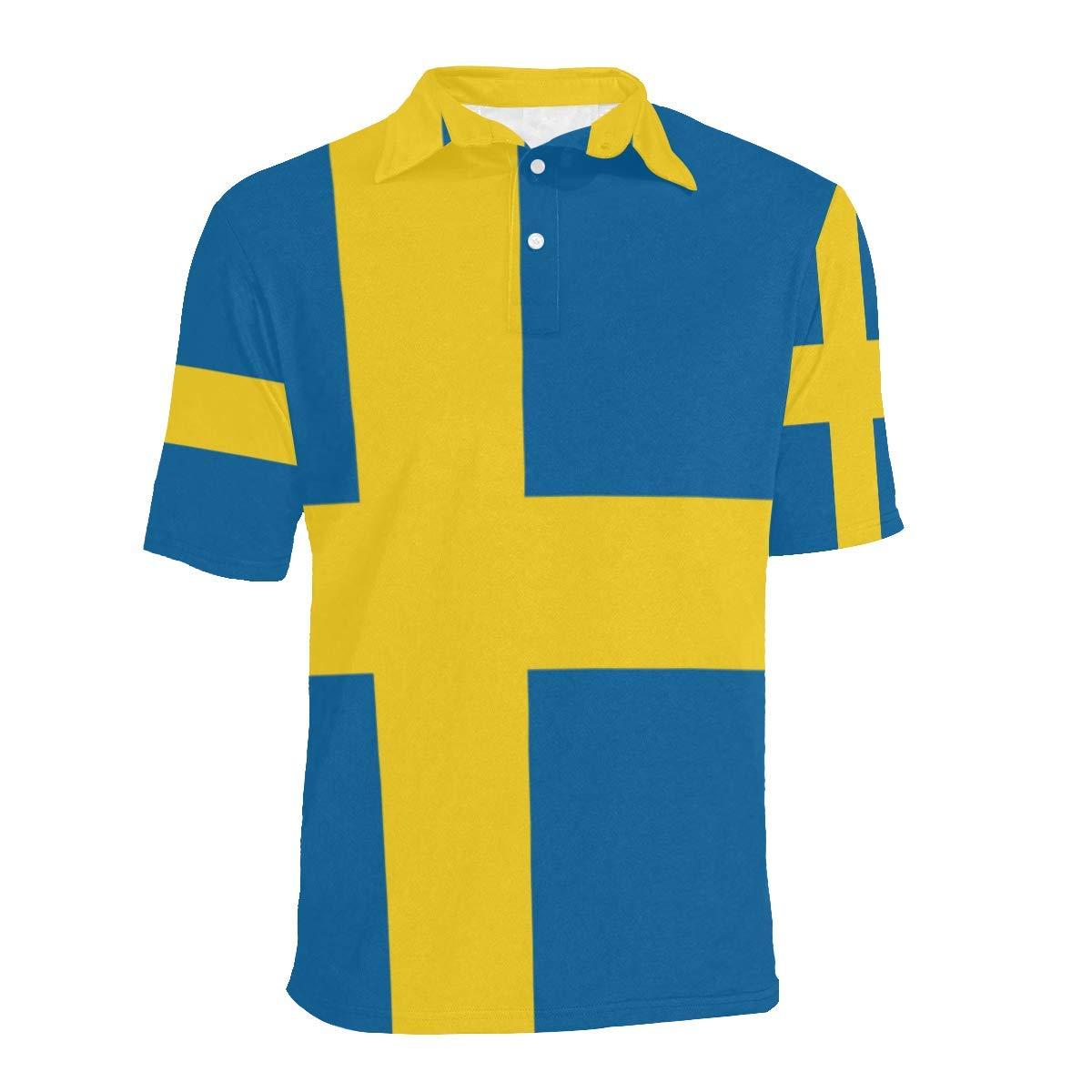 Lumos3DPrint Sweden Flag Mens Polo Shirt