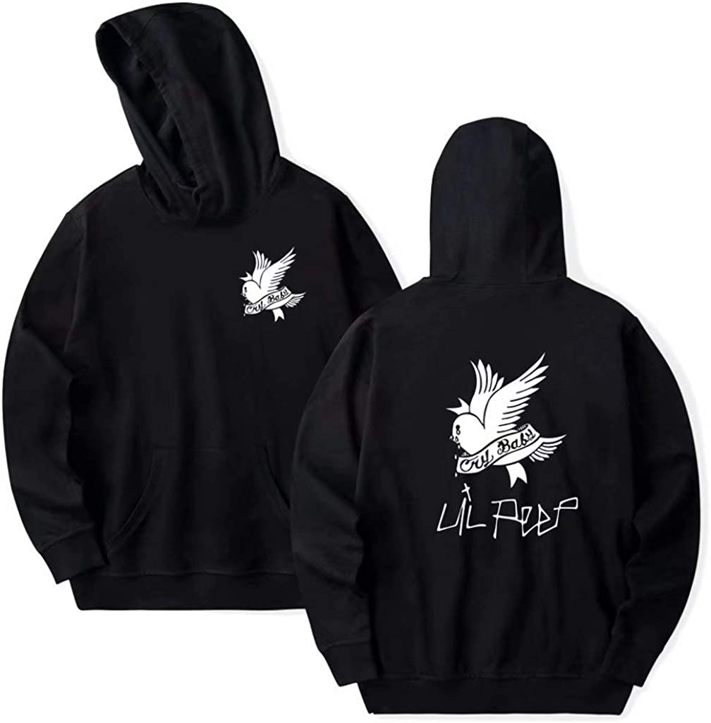 Aopostall LiPeep Hoodie Love Printed Fashion Sport Hip Hop Sweatshirt Pocket Pullover Tops