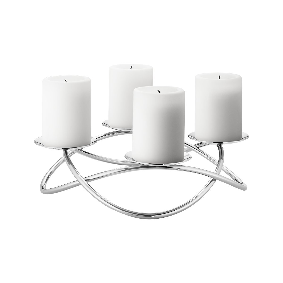Georg Jensen Season Grand Candle Holder, Mirror Polished Stainless Steel, large 3586431