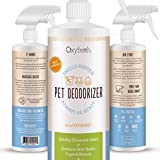 Premium Pet Deodorizer with Oxygene - Odor Remover - Eliminates Urine, Skunk, Litter Box, Cage and Kennel Odors on a Molecular Level, Leaves House and Kennel Smelling Fresh and Clean, 16 Oz.