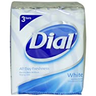Dial Antibacterial Deodorant Soap 4oz Bars, White, 3 ea