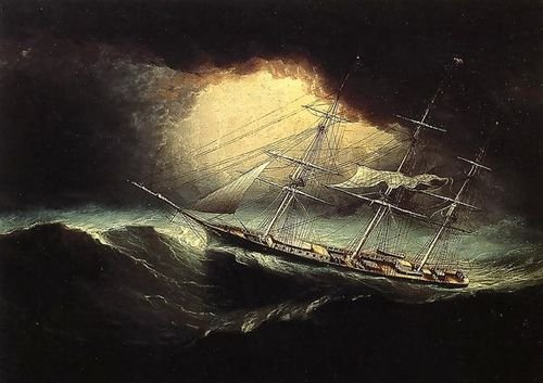 James E. Buttersworth Ship In A Storm 102x72 [Kitchen] ()