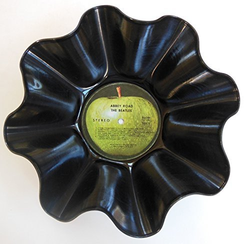 Beatles Vinyl Record Bowl (Abbey Road) - Handmade By Us Using The Original Beatles (Abbey Bowl)