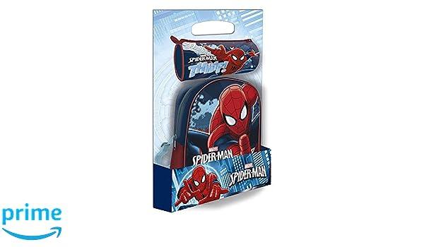 Disney ast4380 Mochila Spiderman + 1 Estuche Offerte: Amazon.es: Juguetes y juegos