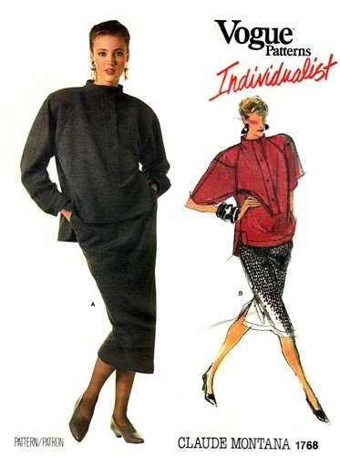 Vogue 1768 Individualist Misses Top and Skirt Designer Claude Montana Vintage Sewing Pattern Check Offers for ()