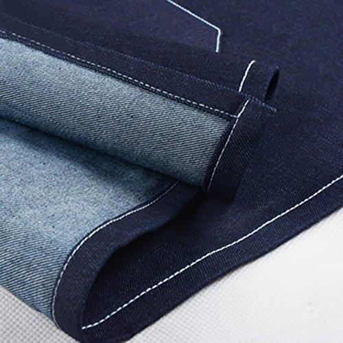 Delantal Material Hombre Jean para Ajustable de cocina Loose mujer Denim s zAwxrzC6q