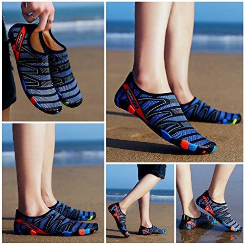 Antidérapance d'eau Bleu Foncé Rapide Séchage Respirant Chausson Chaussure Sport Jixin4you RqAHwxq