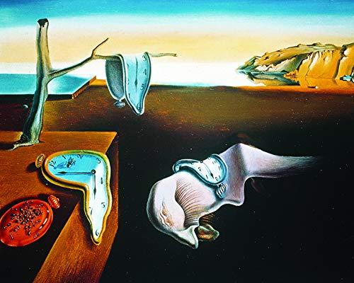 (Culturenik Salvador DALI-Persistence of Memory (Surrealist Painting Art) 8 x 10 Framed Print)