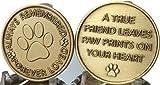 Set of 2 Always Remembered Forever Loved Bronze Dog Memorial Tokens Pet Bereavement Gift