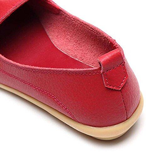 Bateau Mocassins Chaussures Glisseraient Hattie Décontractée Rouges Ons Femmes Cuir Les En nxwC1aRR8q