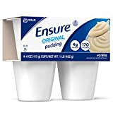 Ensure Pudding, Vanilla, 4-Ounce Cups in 4-Count