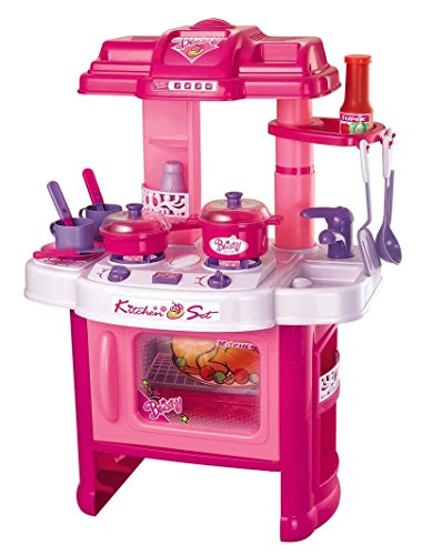 "PowerTRC Deluxe Beauty Kitchen Appliance Cooking Play Set 24"" w/ Lights & Sound"