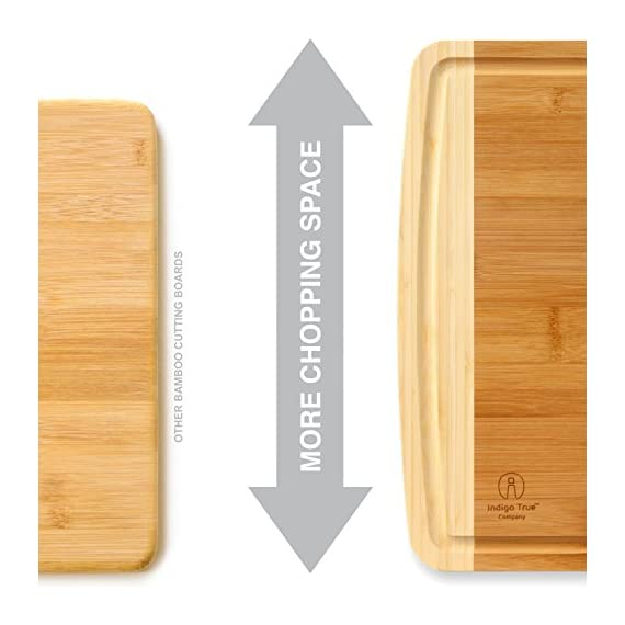 17.5 x 13.5... Extra Large Bamboo Cutting Board for Kitchen with Juice Groove
