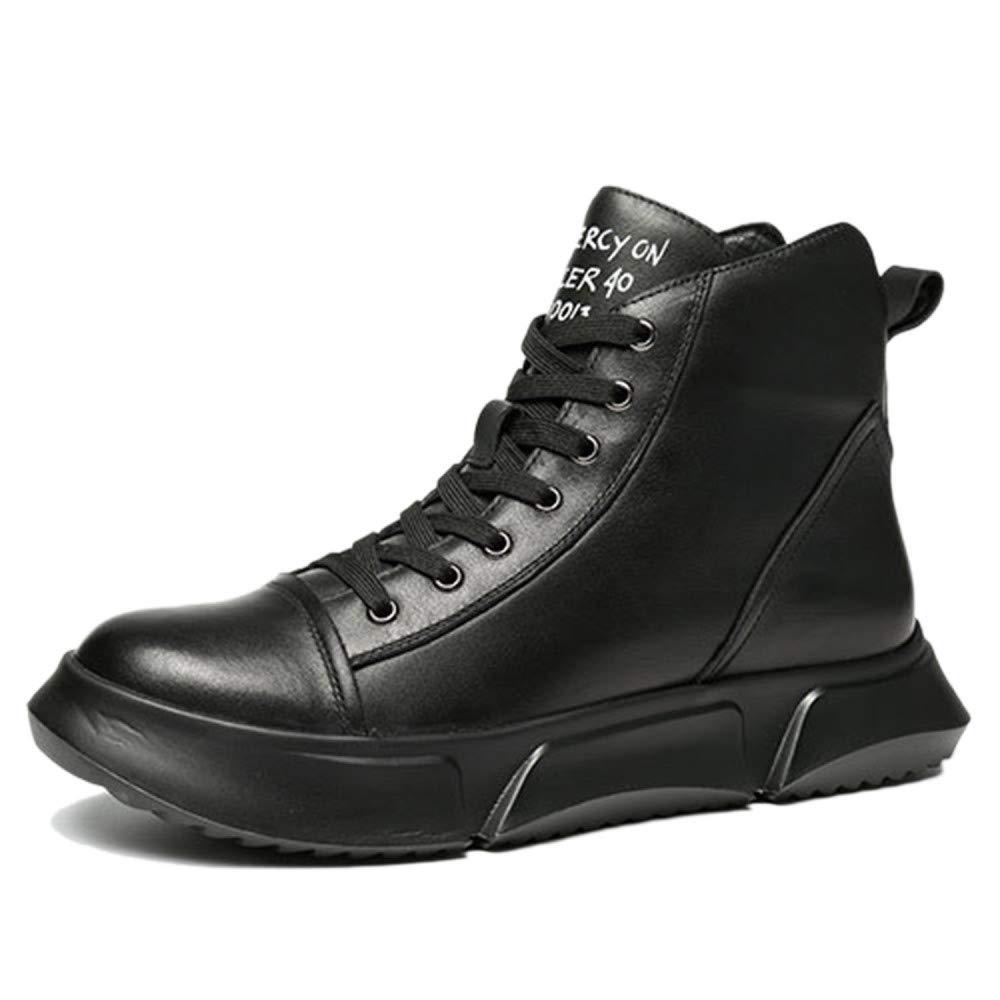 Nihiug Martin Stiefel Oxford Schuhe Erwachsene Stiefel Lamper Stiefel Klassische Leder Herbstwinter Dicke Sohlen Hohe Stiefel