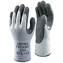 5 Pairs Of Showa 451 Thermo Work Wear Gloves - Thermal Winter Warm - Safety Grip - Size 8 Medium by Showa