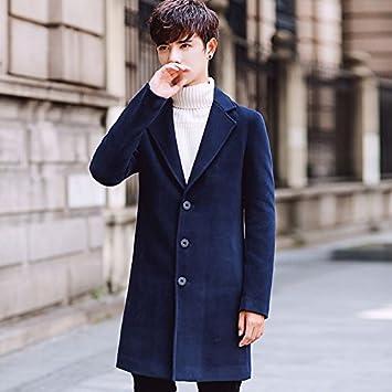 abrigo lana de joven del Cortavientos el hombre de Mayihang lana R5jL4Aq3