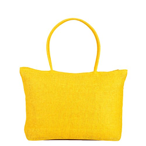 Shoulder Yellow for Tote Straw Women Bag Summer Crochet Holidays Shopping Beach Handbag xTqSfP
