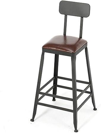 QQXX Pédale Industrielle de Chaise de Bar avec Dossier en
