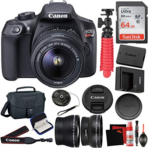 Canon EOS Rebel T6 Digital SLR Camera with EF-S 18-55mm f/3.5-5.6 DC III Lens Kit
