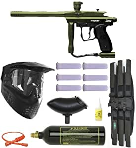 09 Spyder Sonix Paintball Gun Marker MEGA - Olive