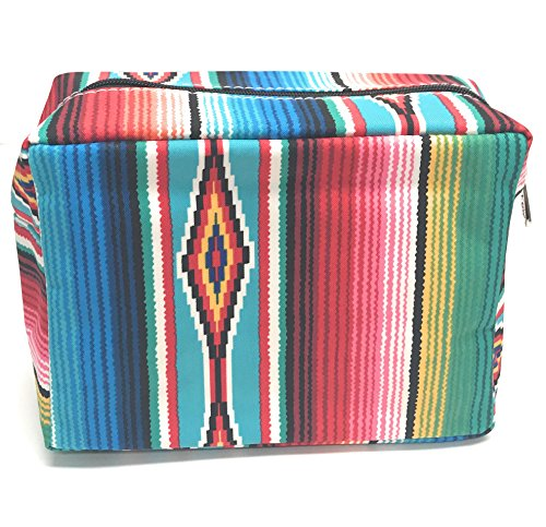 N. Gil Large Travel Cosmetic Pouch Bag (Serape)
