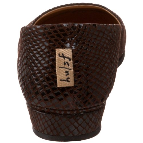 NY French FS Shoe Sole Chocolate Zeppa On Snake Slip Womens grrEwAPx