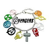 Avengers Color Charms Movie Theme Multi Jewelry Bracelets Charm by Family Brands