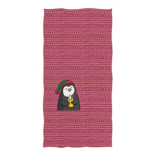Tommying Sophy Happy Penguin Quick Dry Bath Towel,Microfiber Travel Beach Bath Towel, Lightweight Absorbent Fast Dry Oversized Towels Blanket Mat.