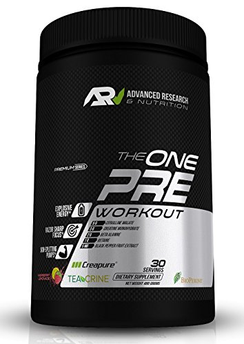 ARN The ONE Pre Workout Supplement – Citrulline + Creapure + BioPerine + Teacrine – Boost Endurance, Energy, Focus and Transparency (No Proprietary Blends) (Raspberry Lemonade, Single Serving Packet)