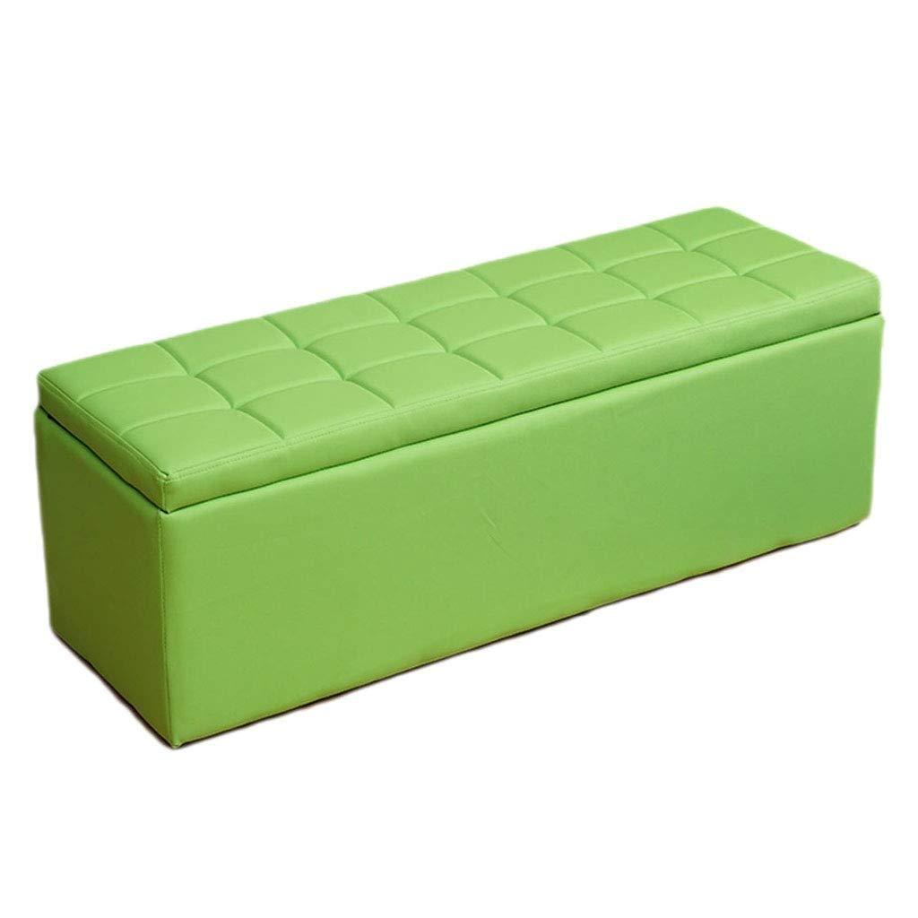 Footstoolsファッションオスマン収納チェストプーフソファベンチ席スペース節約最大負荷300kgスツール、複数サイズ/カラーオプション (色 : ピンク, サイズ さいず : 40*40*40cm) B07QH1RKND 緑 80*40*40cm 80*40*40cm 緑