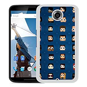 New Beautiful Custom Designed Cover Case For Google Nexus 6 With Wallpaper Grid (2) Phone Case
