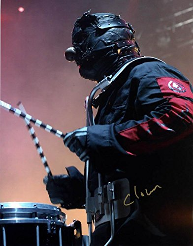 Slipknot Clown Drumming Live Signed at Wells Fargo Des Moines 11x14 Photo AFTAL -