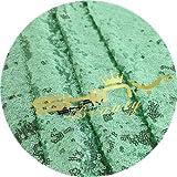 ShinyBeauty Mint-Aisle Runner-50FTX4FT,Glitter Sequin Wedding Aisles Floor Runner,Sparkle Carpet Runner (Red)