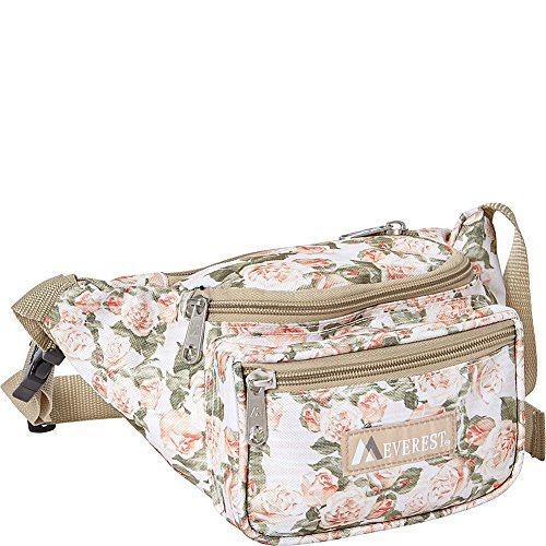 Everest Signature Pattern Waist Pack, Vintage Floral, One Size
