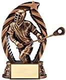 The Trophy Studio Antique Bronze And Gold Lacrosse Male Award 5 1/2''tall