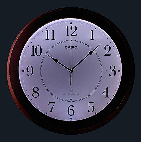 カシオ アナログ掛時計 フルブライト夜見えライト 秒針停止機能付き IQ-910FLJ-5JF B01J54ER1Y