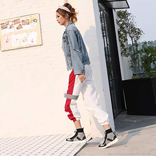 Da Novità Sportive Yan Calze Knit Un top Stringate Calzature Piatte Passeggio Elastiche Primavera High Donna Sneakers Casual Scarpe Traspiranti wXqxqHS5a
