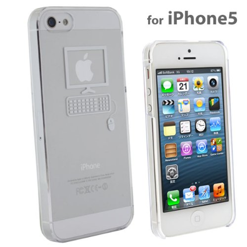 Applus Hard Clear iPhone 5 Case (White/Computer)