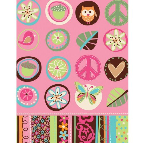 amscan Hippie Chick Table Cover Birthday Party Tableware Decoration Supply (1 Piece), 54